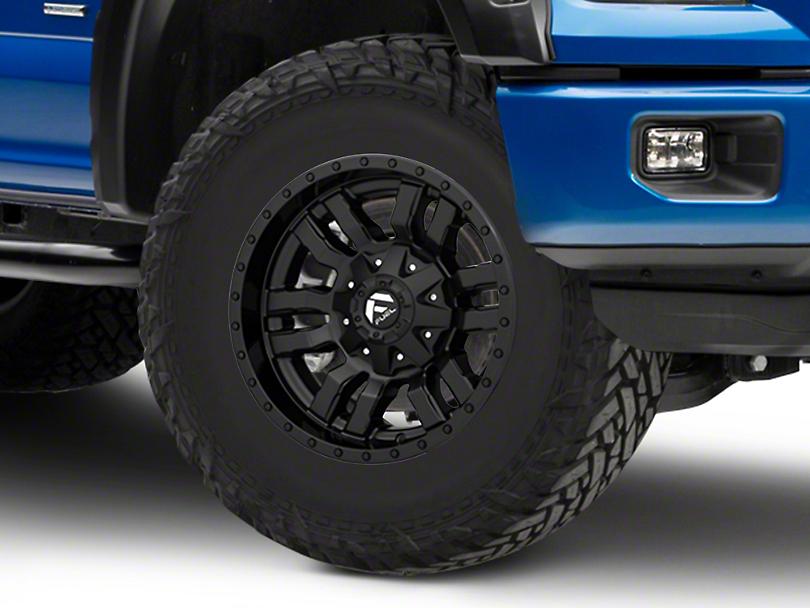 fuel wheels   sledge gloss matte black  lug wheel