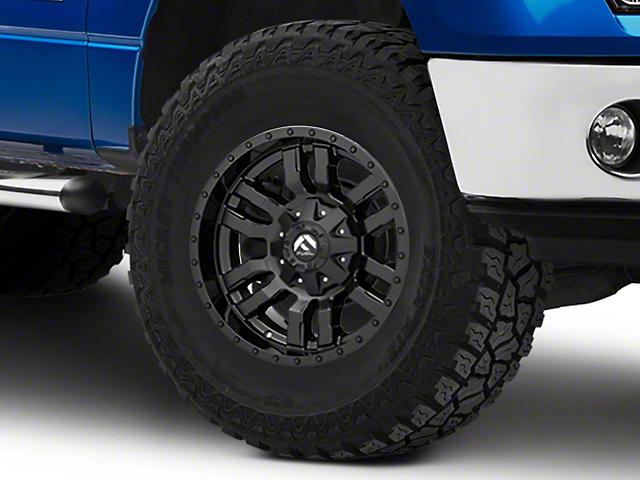 Fuel Wheels Sledge Gloss and Matte Black 6-Lug Wheel; 18x9; -12mm Offset (09-14 F-150)