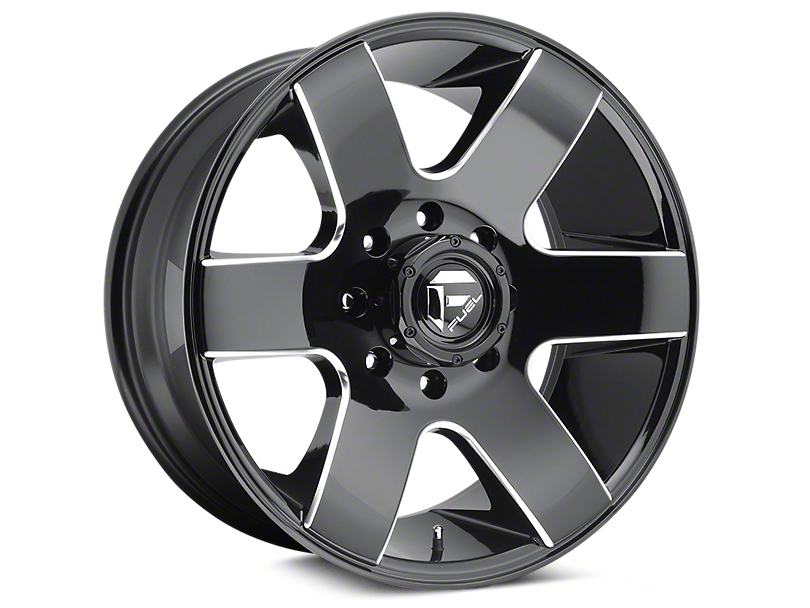 Fuel Wheels Tank Gloss Black Milled 6-Lug Wheel - 20x10 (04-19 F-150)
