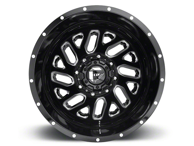 Fuel Wheels Triton Gloss Black Milled 6-Lug Wheel - 17x9 (15-19 F-150)