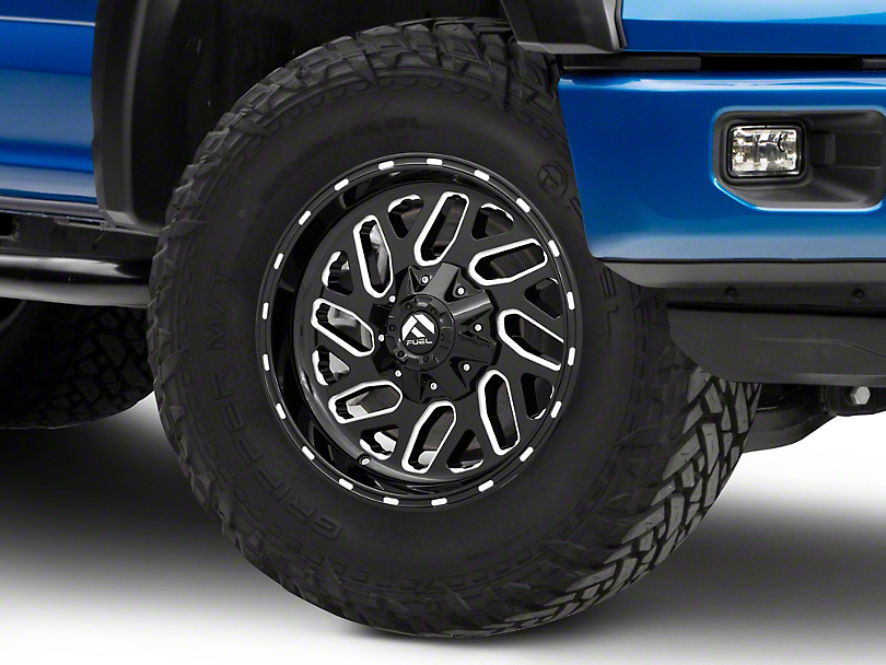 Fuel Wheels Triton Gloss Black Milled 6-Lug Wheel - 18x9 (15-19 F-150)