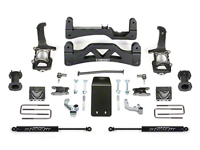 Fabtech 6 in. Basic Lift Kit w/ Front Stock Coil-Over Spacers & Rear Stealth Shocks (2014 4WD F-150 SuperCrew, Excluding Raptor)