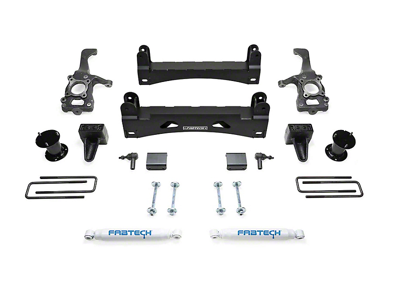 Fabtech 6 in. Basic Lift System w/ Front Stock Coilover Spacers & Shocks (15-20 2WD F-150 SuperCab, SuperCrew)