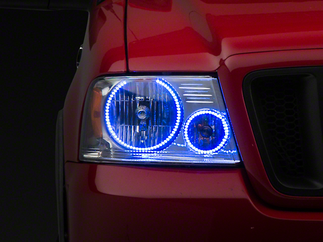 Oracle Chrome OE Style Headlights w/ ColorSHIFT LED Halos (04-08 F-150)