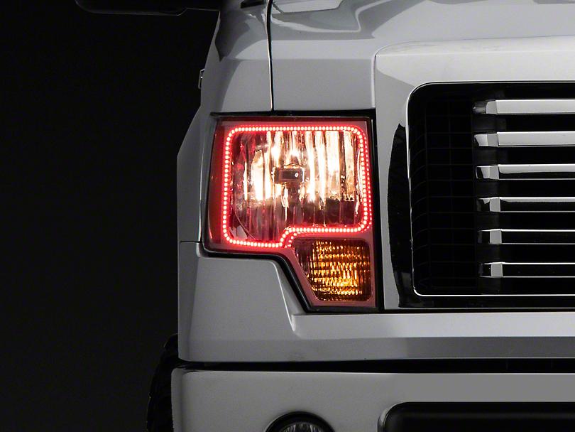 Oracle Chrome OE Style Headlights w/ ColorSHIFT LED Halos (09-14 F-150 w/o Factory HID)