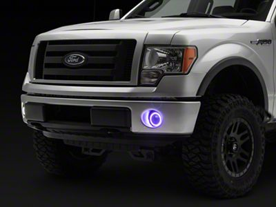 For Ford F150//250//Expedition 3 inches Black Bull Bar+6 inches Black Housing Amber Lens Fog Lights