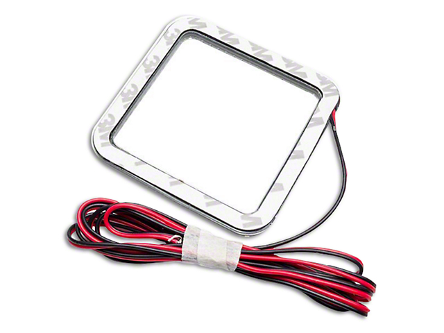 Oracle 3 in. Square Halo for Cube/Square Lights - White (97-19 F-150)