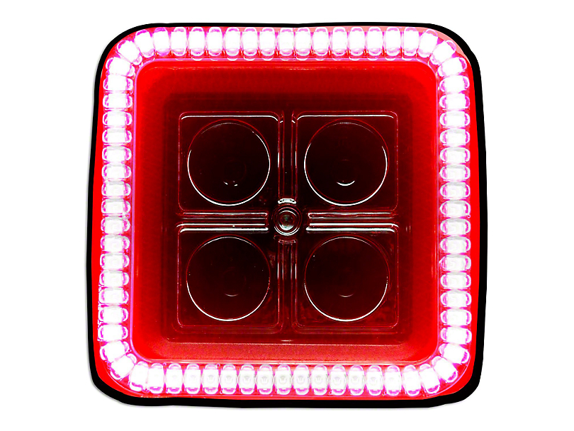 Oracle 3 in. Square Halo for Cube/Square Lights - Red (97-19 F-150)
