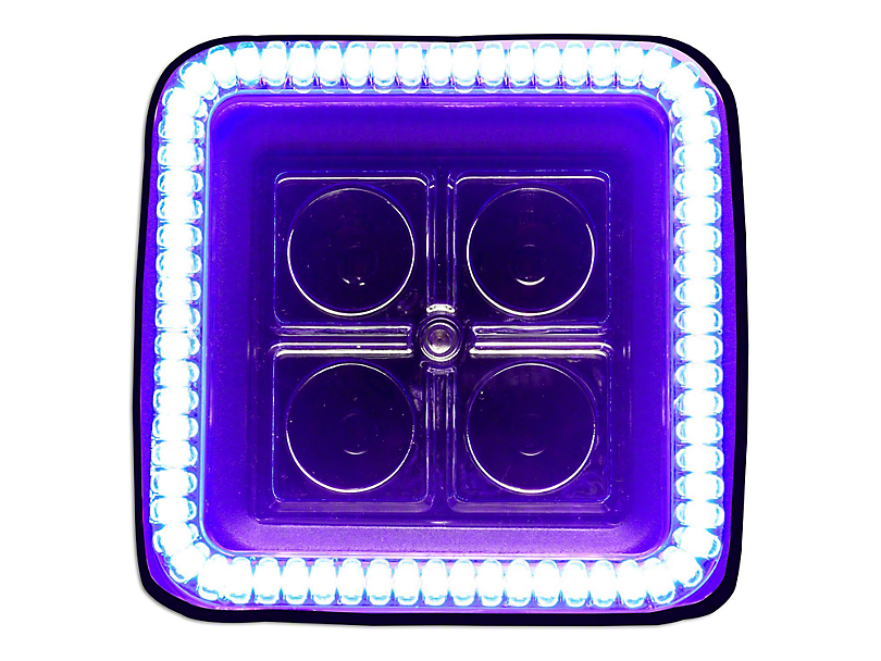 Oracle 3 in. Square Halo for Cube/Square Lights - UV/Purple (97-19 F-150)