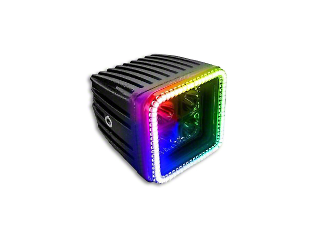 Oracle 3 in. Square Halo for Cube/Square Lights - ColorSHIFT (97-19 F-150)