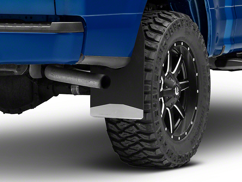Husky 12 in. Wide Mud Flaps - Stainless Steel Weight (97-19 F-150)