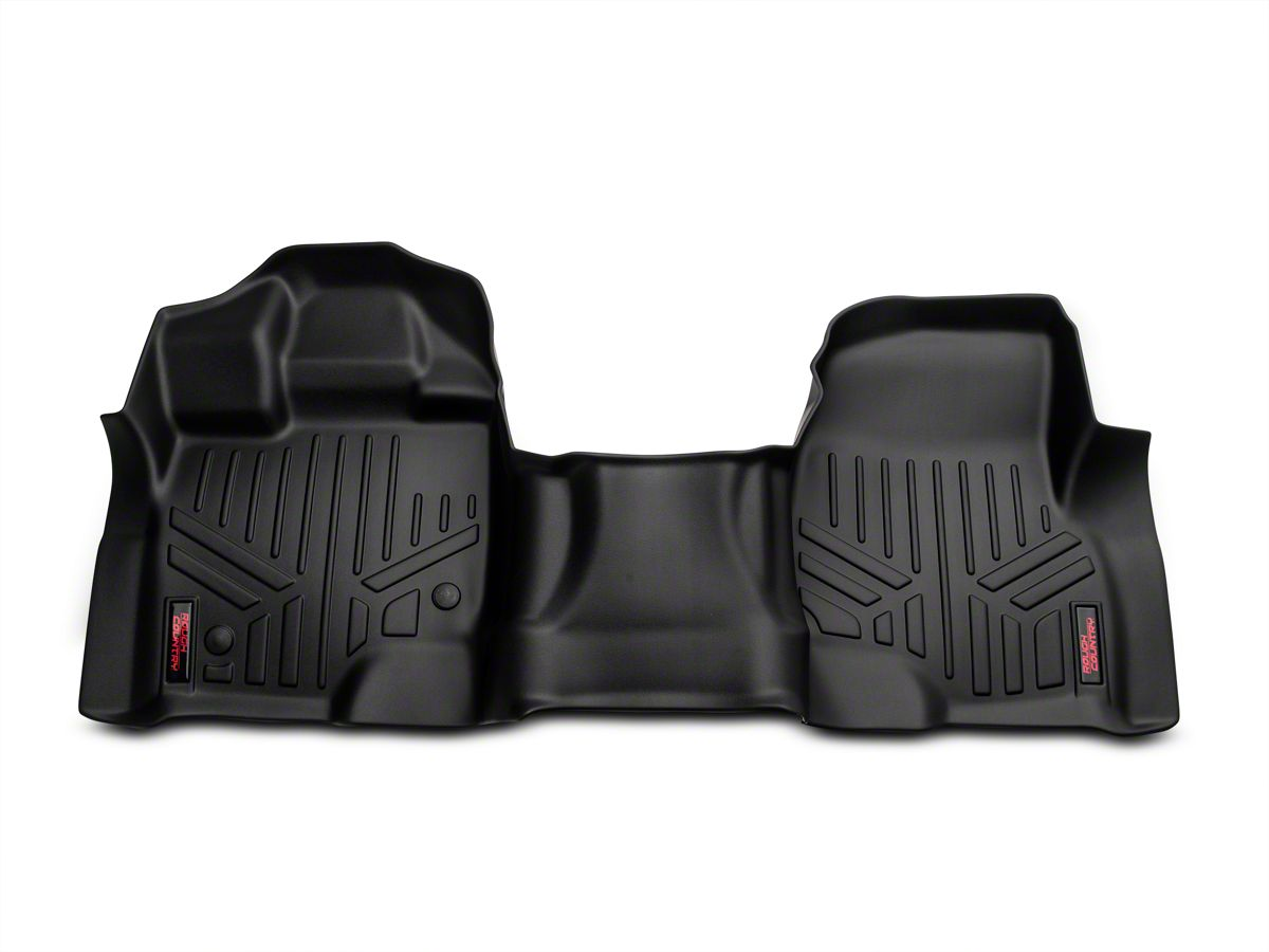 Rough Country Heavy Duty Front Over The Hump Floor Mats Black 15 20 F 150