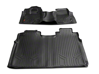 Rough Country Heavy Duty Front & Rear Floor Mats - Black (15-18 F-150 SuperCrew)