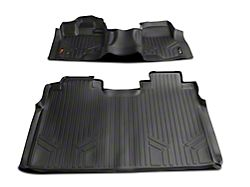 Rough Country Heavy Duty Front Over the Hump and Rear Floor Mats; Black (15-22 F-150 SuperCrew)