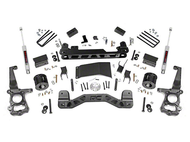 Rough Country 4 in. Suspension Lift Kit w/ Lifted N3 Struts (15-20 4WD F-150, Excluding Raptor)