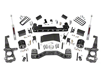 Rough Country 4 in. Suspension Lift Kit w/ Lifted N3 Struts (15-18 4WD F-150, Excluding Raptor)