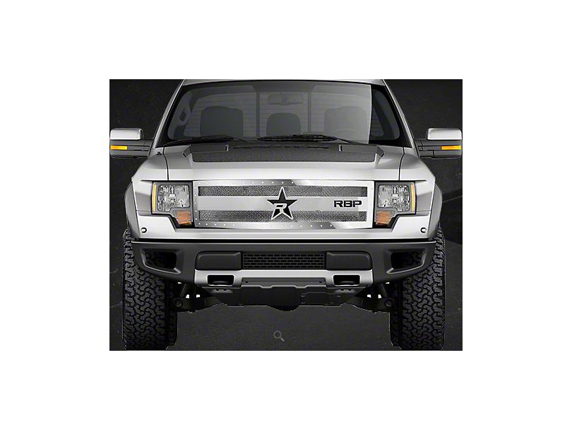 RBP RX-3 Series Studded Frame Upper Grille Insert - Chrome (10-14 F-150 Raptor)