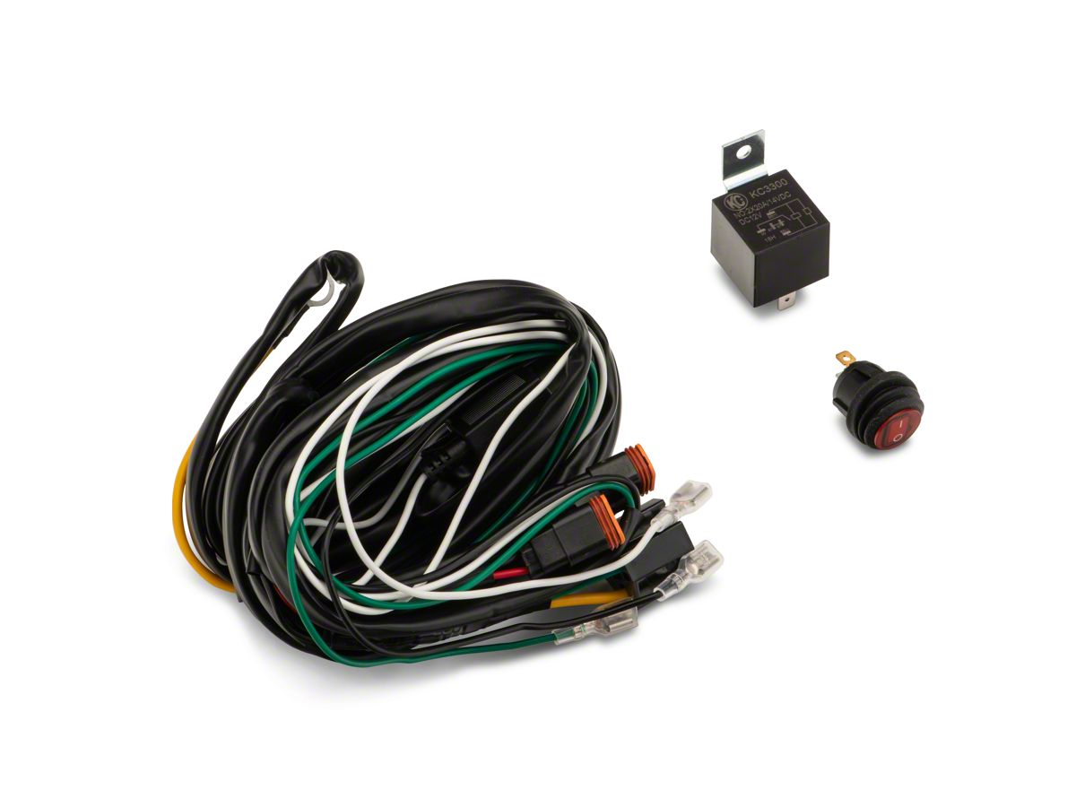 KC HiLiTES F-150 Wiring Harness w/ 40 AMP Relay & LED Rocker Switch 6315American Trucks