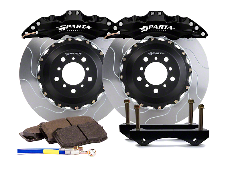 Sparta Evolution Triton Front Big Brake Kit - Black Calipers (15-20 F-150)