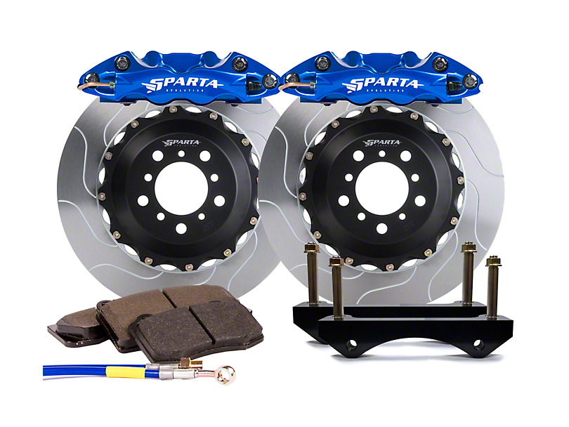 Sparta Evolution Triton Front Big Brake Kit - Signature Blue Calipers (15-19 F-150)