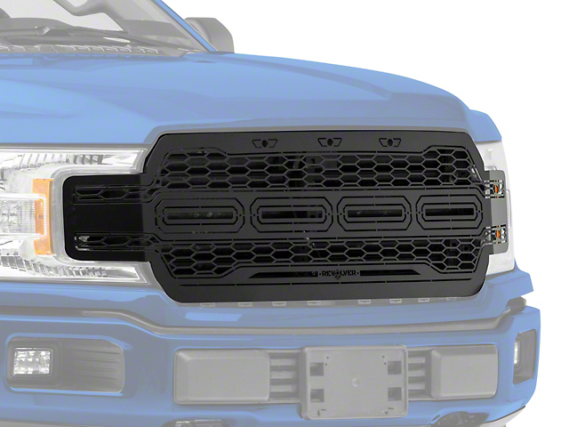 T-REX Revolver Series Upper Replacement Grille - Black (18-19 F-150, Excluding Raptor)