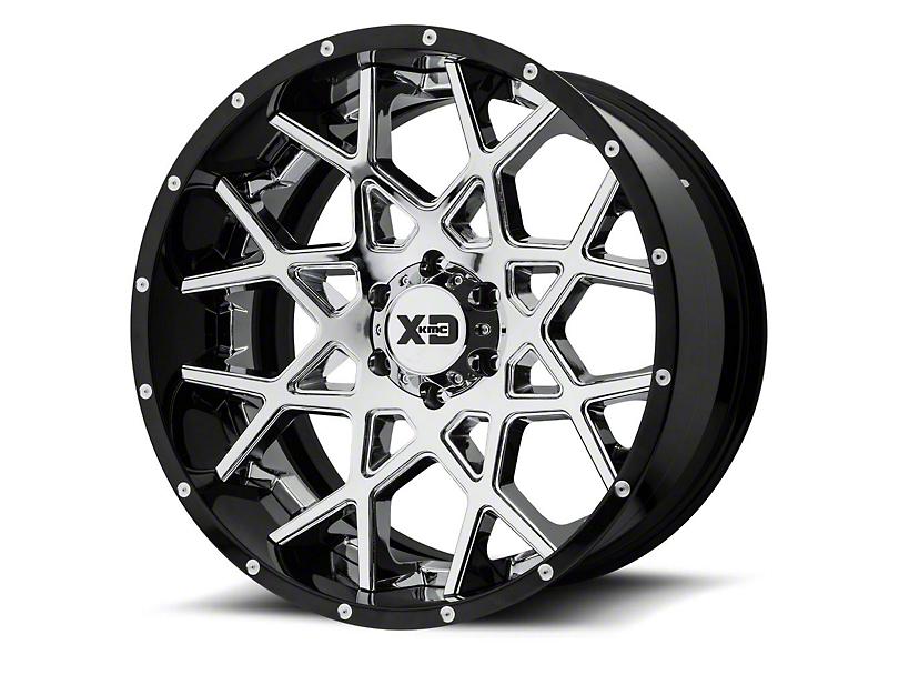 XD Chopstix Chrome w/ Gloss Black Milled Lip 6-Lug Wheel - 20x10; -18mm Offset (15-19 F-150)
