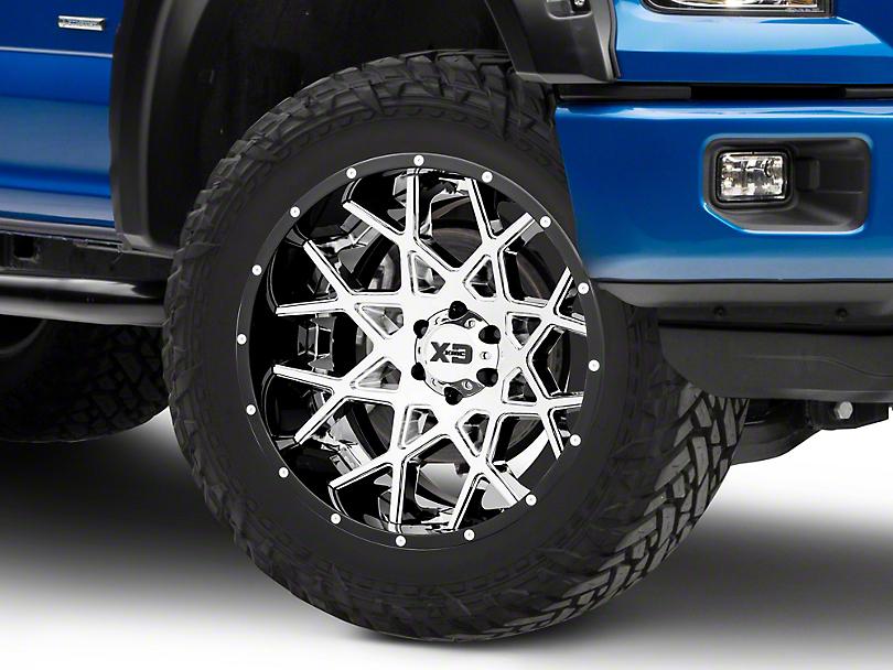 XD Chopstix Chrome w/ Gloss Black Milled Lip 6-Lug Wheel - 22x12 (04-19 F-150)