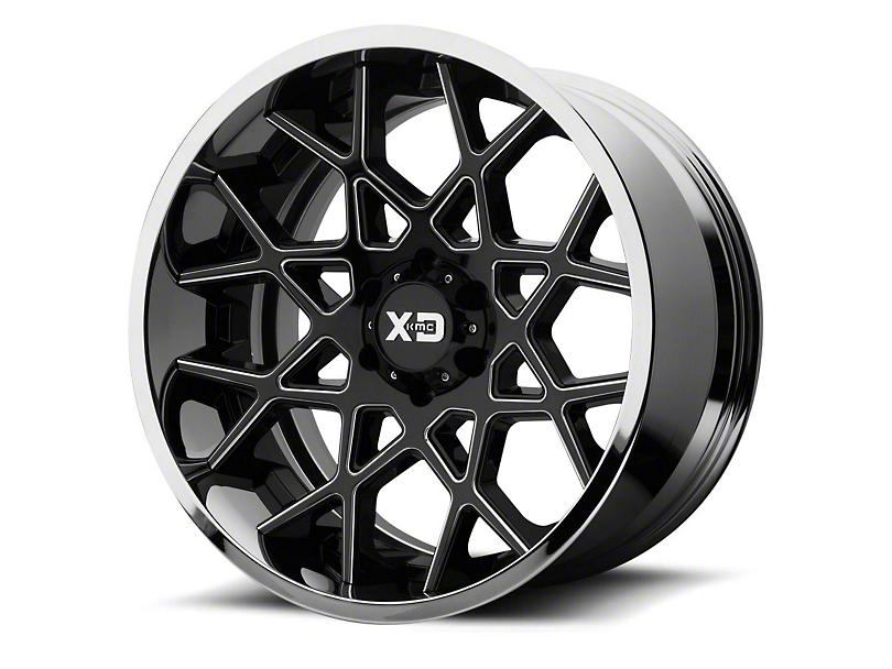 XD Chopstix Gloss Black Milled w/ Chrome Lip 6-Lug Wheel - 22x12 (04-19 F-150)