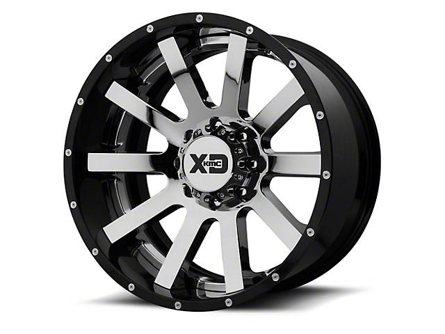 XD Heist Chrome w/ Gloss Black Milled Lip 6-Lug Wheel - 20x12; -44mm Offset (15-19 F-150)