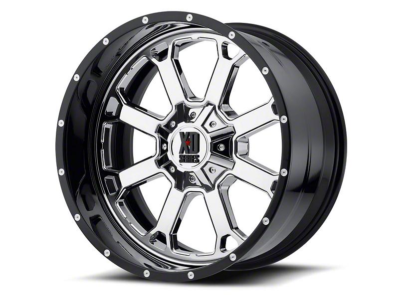 XD Buck 25 Chrome w/ Gloss Black Milled 6-Lug Wheel - 20x12; -44mm Offset (15-19 F-150)