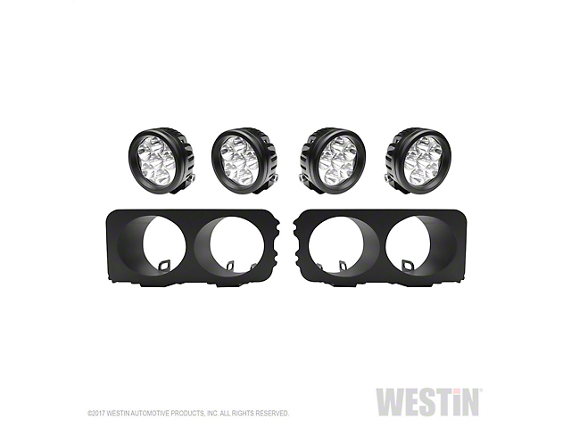 Westin Round LED Light Kit for Outlaw Front Bumpers (15-19 F-150)