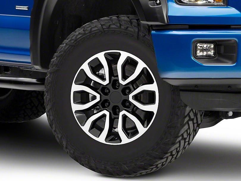 Gen2 Raptor Style Black Machined 6-Lug Wheel - 18x9; 34mm Offset (15-19 F-150)