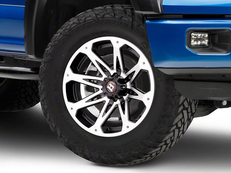 Ballistic Jester Flat Black Machined 6-Lug Wheel - 20x9 (04-19 F-150)