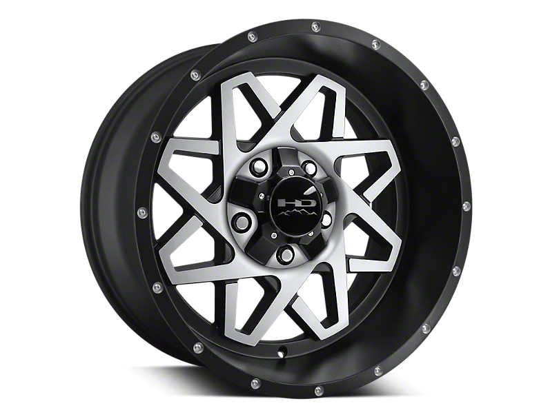 HD Wheels Gridlock Satin Black Machined 6-Lug Wheel - 20x10 (04-19 F-150)