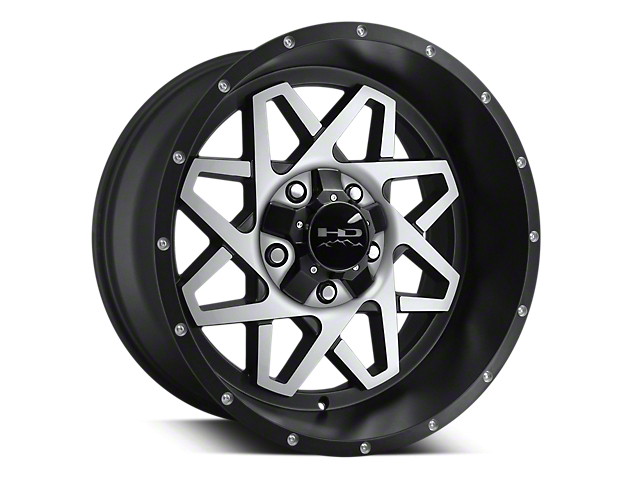 HD Wheels Gridlock Satin Black Machined 6-Lug Wheel - 20x10; 0mm Offset (15-19 F-150)