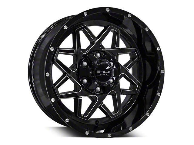 HD Wheels Gridlock Gloss Black Milled 6-Lug Wheel - 20x10 (04-19 F-150)