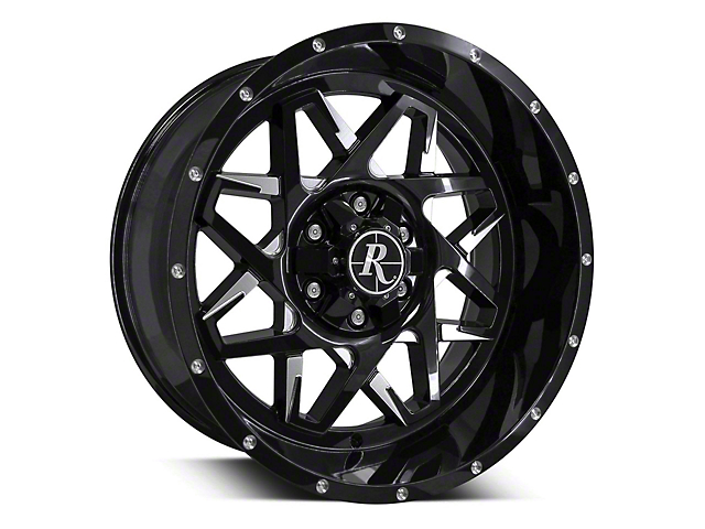Remington Off-Road Caliber Gloss Black Milled 6-Lug Wheel - 20x10; -25mm Offset (15-19 F-150)