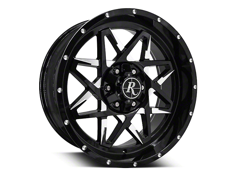 Remington Off-Road Caliber Gloss Black Milled 6-Lug Wheel - 20x9; 0mm Offset (15-19 F-150)