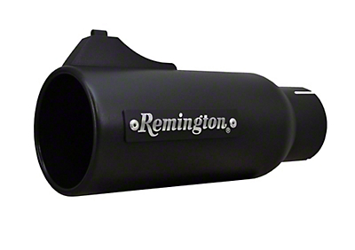 Remington Off-Road 4 in. Open Sight Exhaust Tip - Satin Black - 2.5 in. Connection (97-19 F-150)