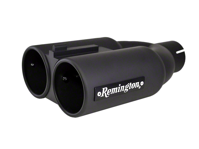 Remington Off-Road Dual 4 in. Satin Black Double Barrell Exhaust Tip - 3 in. Connection (97-19 F-150)