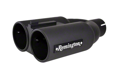 Remington Off-Road Dual 4 in. Double Barrell Exhaust Tip - Satin Black - 3 in. Connection (97-19 F-150)