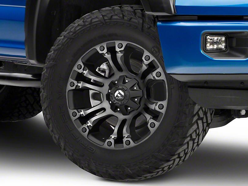 Fuel Wheels Vapor Black Double Dark 6-Lug Wheel - 20x9 (15-19 F-150)