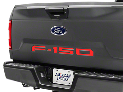 Red Tailgate Insert Letters (2018 F-150)