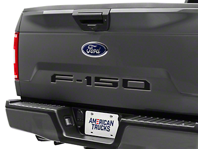 Black Carbon Tailgate Insert Letters (2018 F-150)