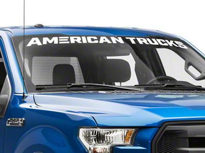 AmericanTrucks Windshield Banner - White (97-19 F-150)
