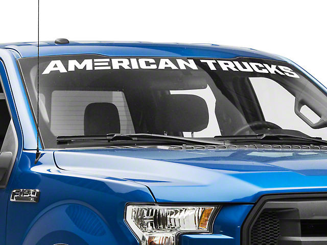 SEC10 AmericanTrucks Windshield Banner; White (97-21 F-150)