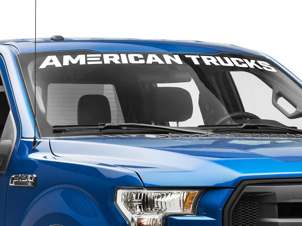 AmericanTrucks Windshield Banner - White (97-19 F-150)