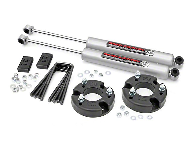 Rough Country 2-Inch Leveling Lift Kit with Premium N3 Shocks (09-20 F-150, Excluding Raptor)
