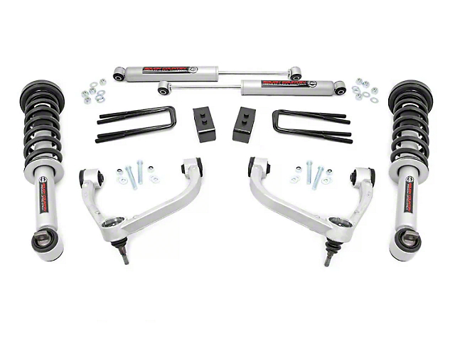 Rough Country 3 in. Bolt-On Suspension Lift Kit w/ Premium N3 Shocks (14-19 4WD F-150, Excluding Raptor)