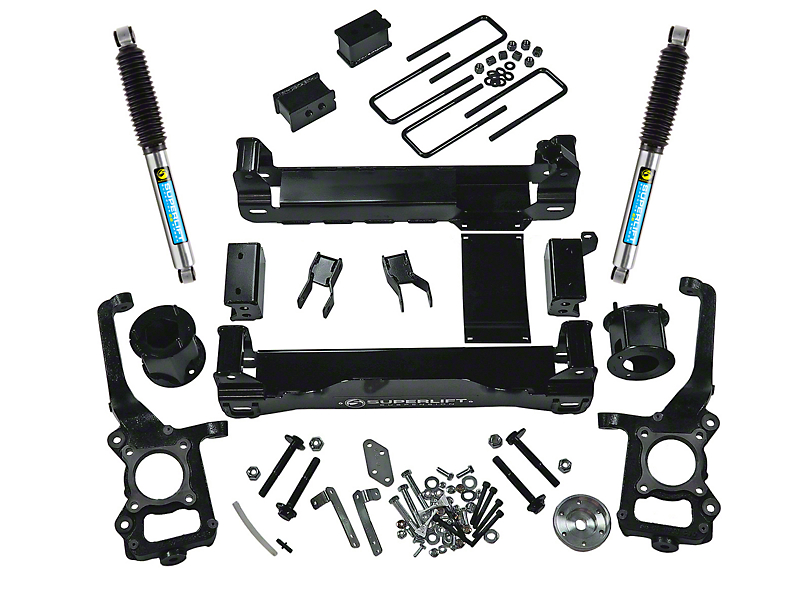 SuperLift 4.5 in. Suspension Lift Kit w/ Bilstein Shocks (09-14 4WD F-150, Excluding Raptor)